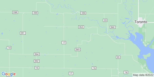 Map of Pleasant Grove, KS