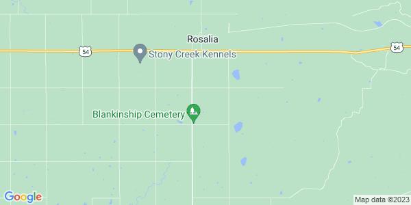 Map of Rosalia Township, KS