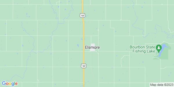 Map of Elsmore Township, KS