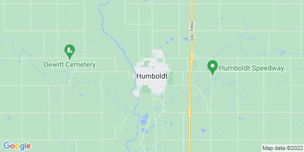Map of Humboldt, KS