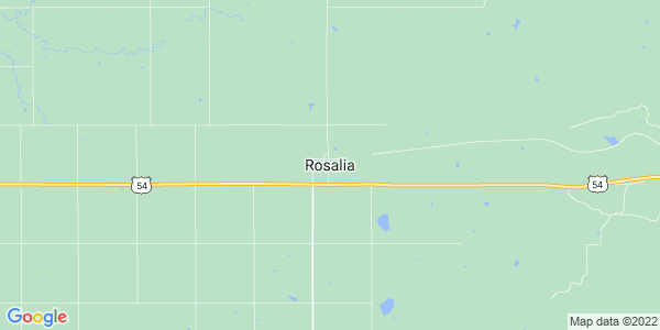 Map of Rosalia, KS
