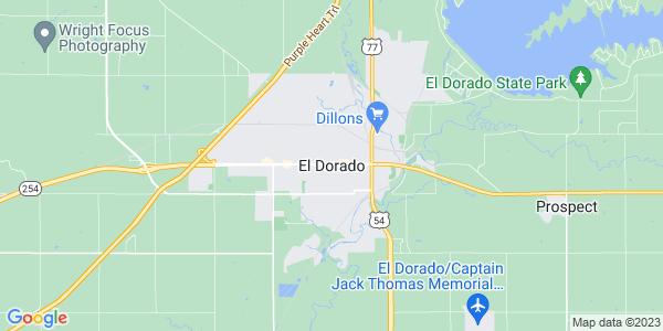 Map of El Dorado, KS