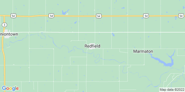 Map of Redfield, KS