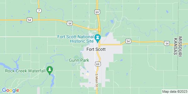 Map of Fort Scott, KS