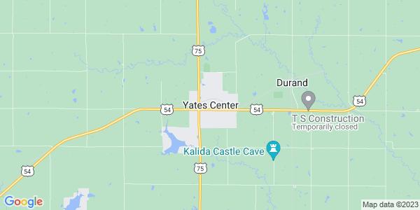 Map of Yates Center, KS
