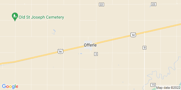 Map of Offerle, KS