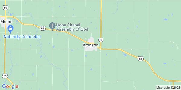 Map of Bronson, KS