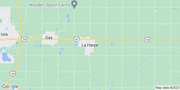 Map of La Harpe, KS