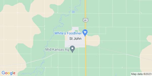 Map of St. John, KS