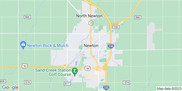 Map of Newton, KS