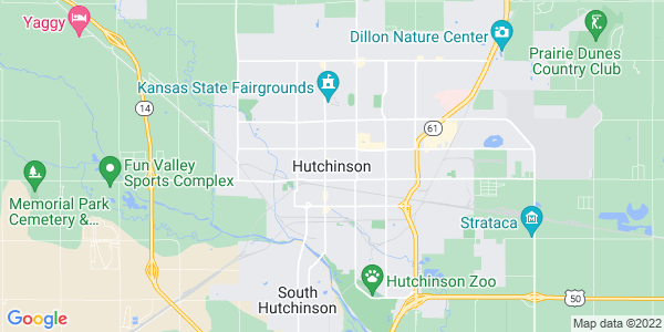 Map of Hutchinson, KS