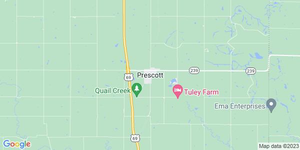 Map of Prescott, KS
