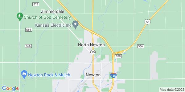 Map of North Newton, KS