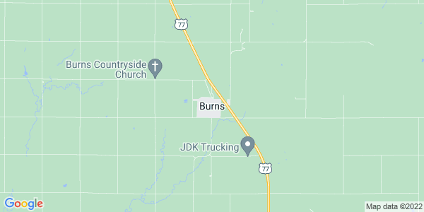 Map of Burns, KS