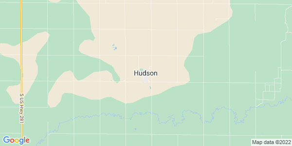 Map of Hudson, KS