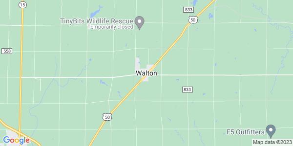 Map of Walton, KS