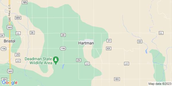 Map of Hartman, CO