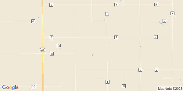 Map of East Hibbard, KS