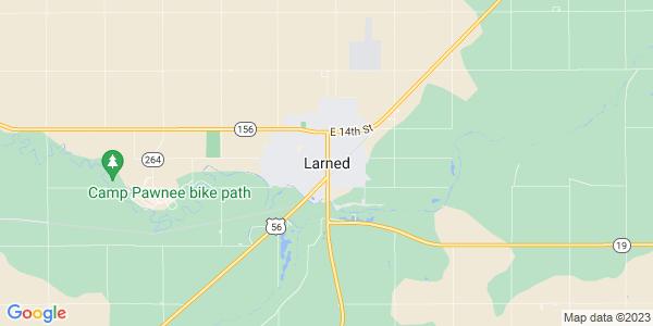 Map of Larned, KS