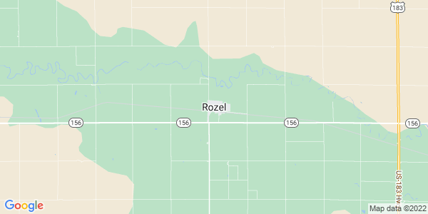 Map of Rozel, KS