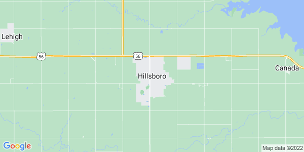 Map of Hillsboro, KS