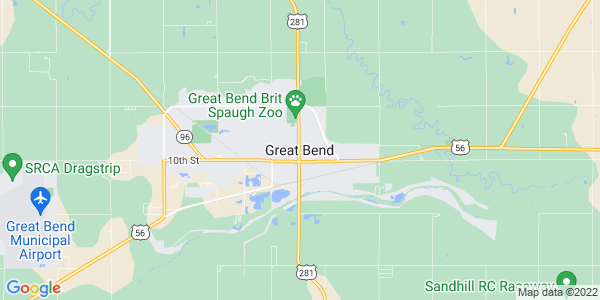 Map of Great Bend, KS