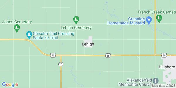 Map of Lehigh, KS