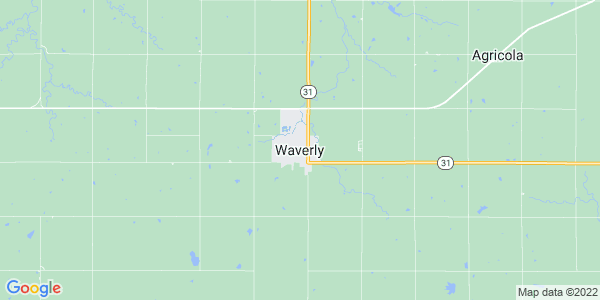 Map of Waverly, KS