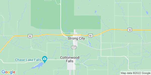Map of Strong City, KS