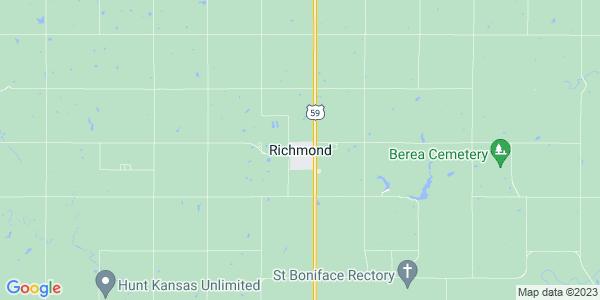 Map of Richmond, KS