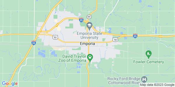 Map of Emporia, KS