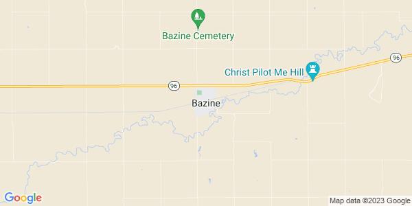 Map of Bazine, KS