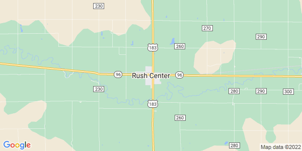 Map of Rush Center, KS