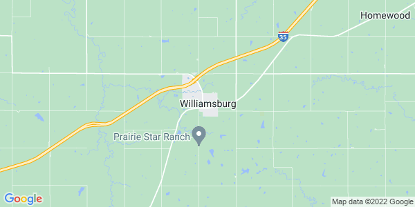Map of Williamsburg, KS