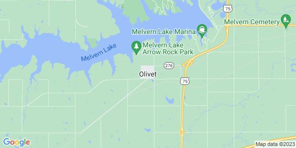 Map of Olivet, KS