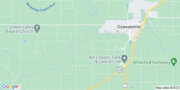Map of Osawatomie Township, KS