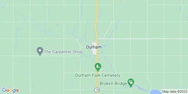 Map of Durham, KS