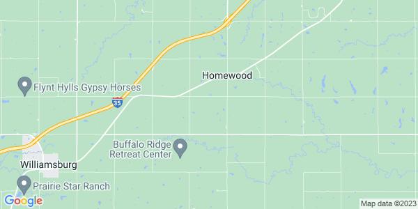 Map of Homewood, KS