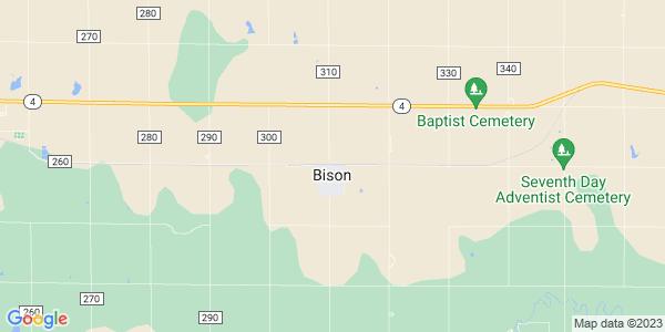 Map of Bison, KS