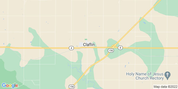 Map of Claflin, KS