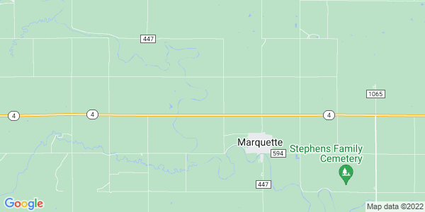 Map of Marquette Township, KS