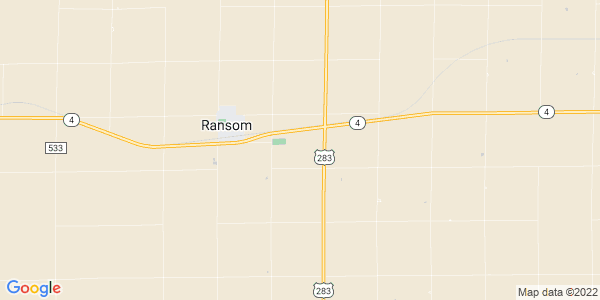 Map of Nevada, KS