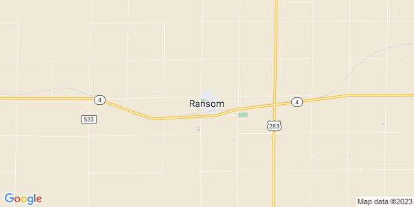Map of Ransom, KS
