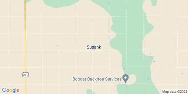 Map of Susank, KS