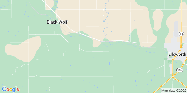 Map of Black Wolf, KS