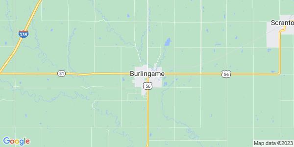 Map of Burlingame, KS