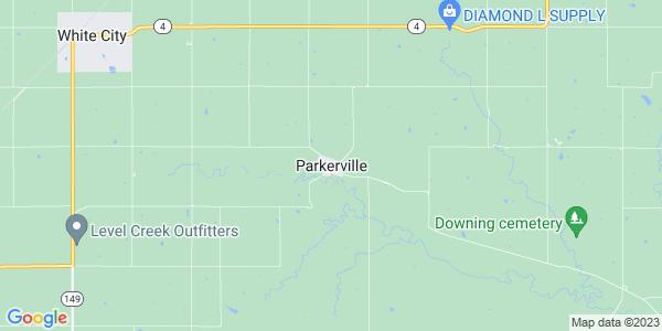 Map of Parkerville, KS