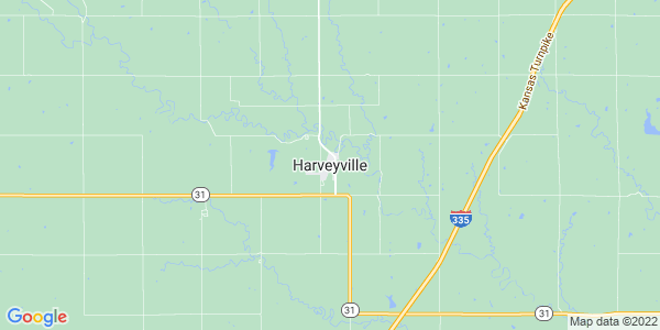 Map of Harveyville, KS