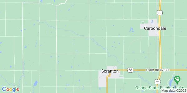 Map of Scranton Township, KS