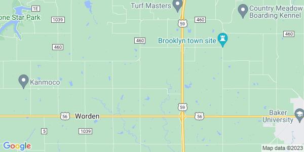 Map of Willow Springs, KS